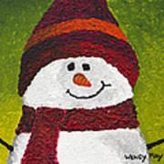 Joyce The Snowman Art Print