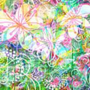 Joyful Flowers By Jan Marvin Art Print