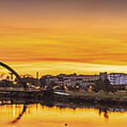 Jubia Bridge Panorama Neda Naron Galicia Spain Art Print