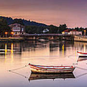 Jubia River Panorama Neda Naron Galicia Spain Art Print