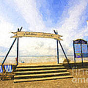 Jubilee Beach Southend On Sea Art Print