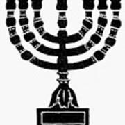 Judaism Candelabra Art Print