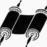 Judaism Torah Art Print
