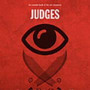 Judges Books Of The Bible Series Old Testament Minimal Poster Art Number 7 Art Print