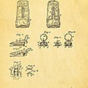 Judson Zipper Patent Art 1893 Art Print