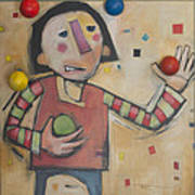 Juggler With Balls  Art Print
