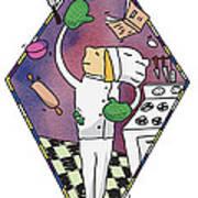 Juggling Chef Art Print