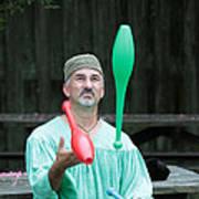 Juggling Art Print by Dwight Cook