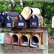 Jumbled Mailboxes Art Print