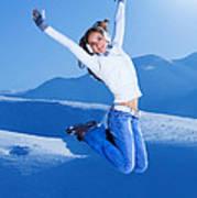 Jumping Girl Art Print