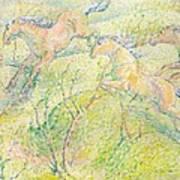 Jumping Horses Art Print