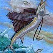 Jumping Sailfish Art Print