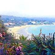 June Gloom Morning At Laguna Beach Coast Art Print