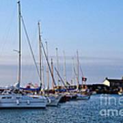 June Morning - Lyme Regis Harbour Art Print