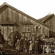 Jung San Choy And Chinese Family Pescadero Village Pebble Beach California Circa 1895 Art Print