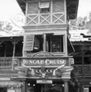 Jungle Cruise Adventureland Disneyland Bw Art Print