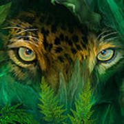 Jungle Eyes - Jaguar Art Print