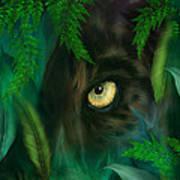 Jungle Eyes - Panther Art Print