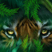 Jungle Eyes - Tiger Art Print