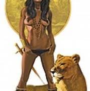 Jungle Girl Art Print