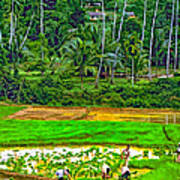 Jungle Homestead Paint Version Art Print