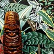 Jungle O Tiki Art Print by Anthony Morris