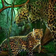 Jungle Spirit - Leopard Art Print