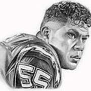Junior Seau Art Print by Don Medina