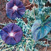 Juniper And Flowers Art Print