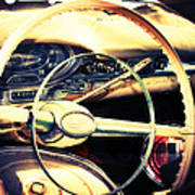 Junkyard Steering Wheel Art Print