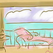 Jupiter Balcony Art Print