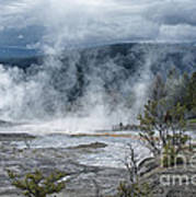 Just Before The Storm - Mammoth Hot Springs Print by Sandra Bronstein