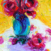 Just Past Bloom - Roses Still Life Art Print