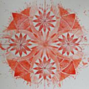 Just Red Mandala Art Print