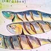 Just Sardines Art Print
