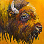 Just Sayin Bison Art Print
