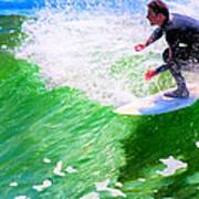 Just Surf - Santa Cruz California Surfing Art Print