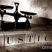 Justice Art Print by Olivier Le Queinec