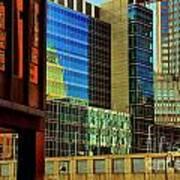Juxtaposition Of Pittsburgh Buildings Art Print