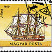 Jylland Steam And Sailing Ship Art Print
