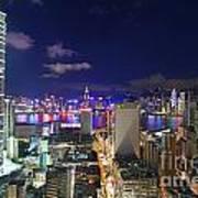 K11 In Tsim Sha Tsui In Hong Kong At Night Art Print by Lars Ruecker