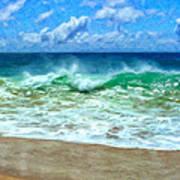 Kaanapali Shorebreak Maui Art Print
