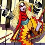 Kabuki Chopsticks 3 Art Print