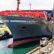 Kaethe P Container Ship Panama Canal Art Print