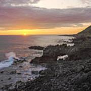 Kaena Point Sea Arch Sunset - Oahu Hawaii Art Print