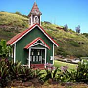 Kahakuloa Church - Maui Art Print