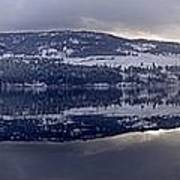 Sunset Kalamalka Lake - British Columbia Art Print