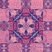Kaleidoscope Art Peach Art Print
