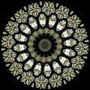 Kaleidoscope Ernst Haeckl Sea Life Series Steampunk Feel Triptyc Art Print