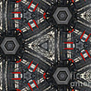 Kaleidoscope In Black Art Print